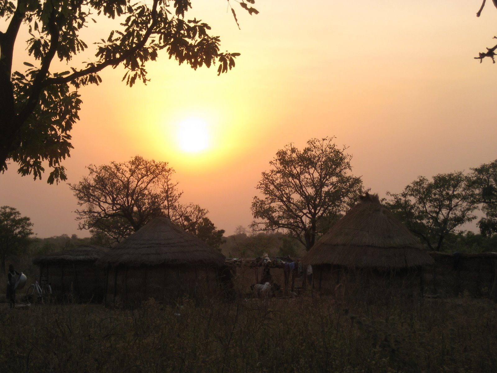 Sunset in Nymaliga, Northern Region Ghana