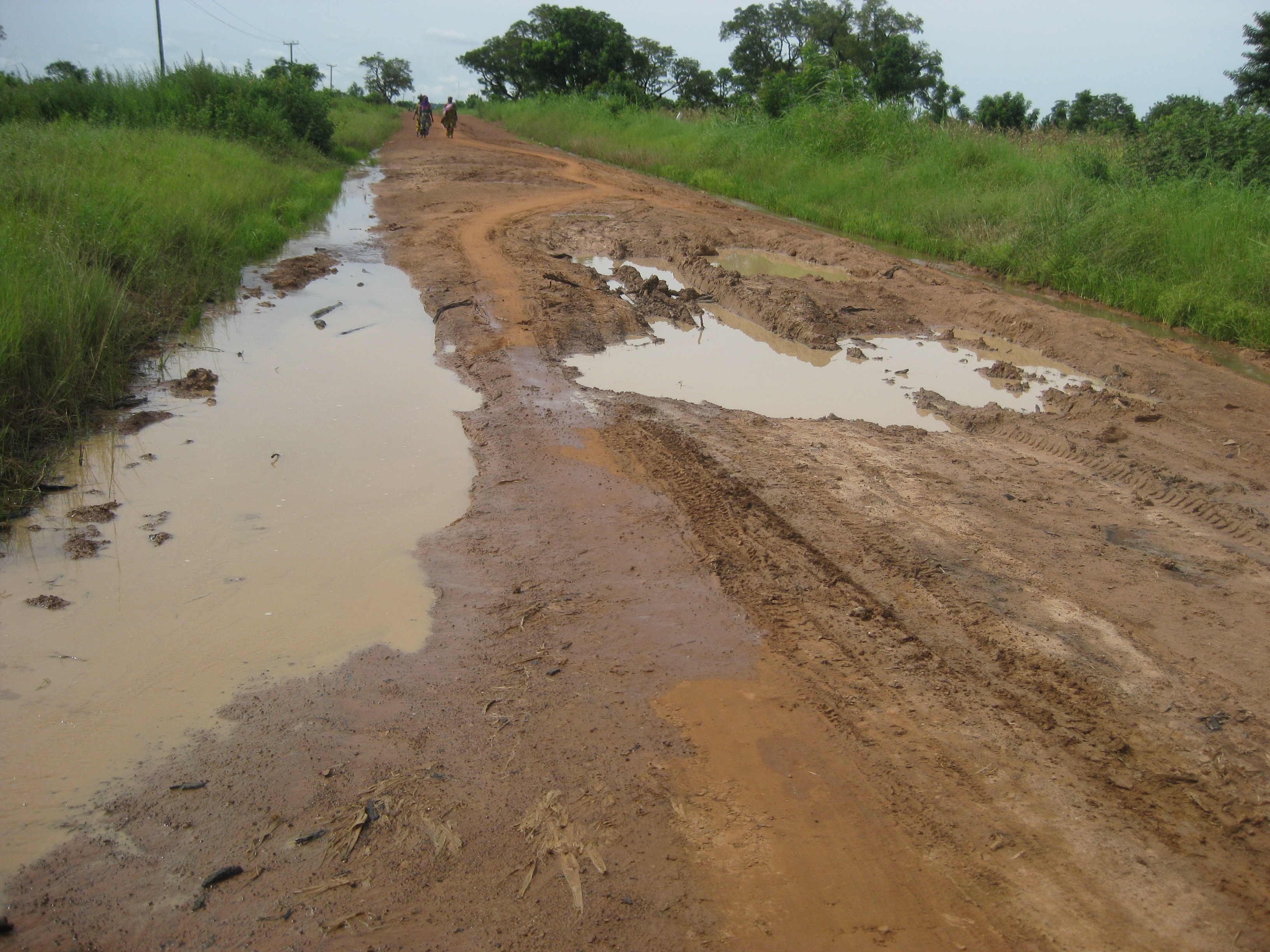 typical road, a couple days after a rain storm