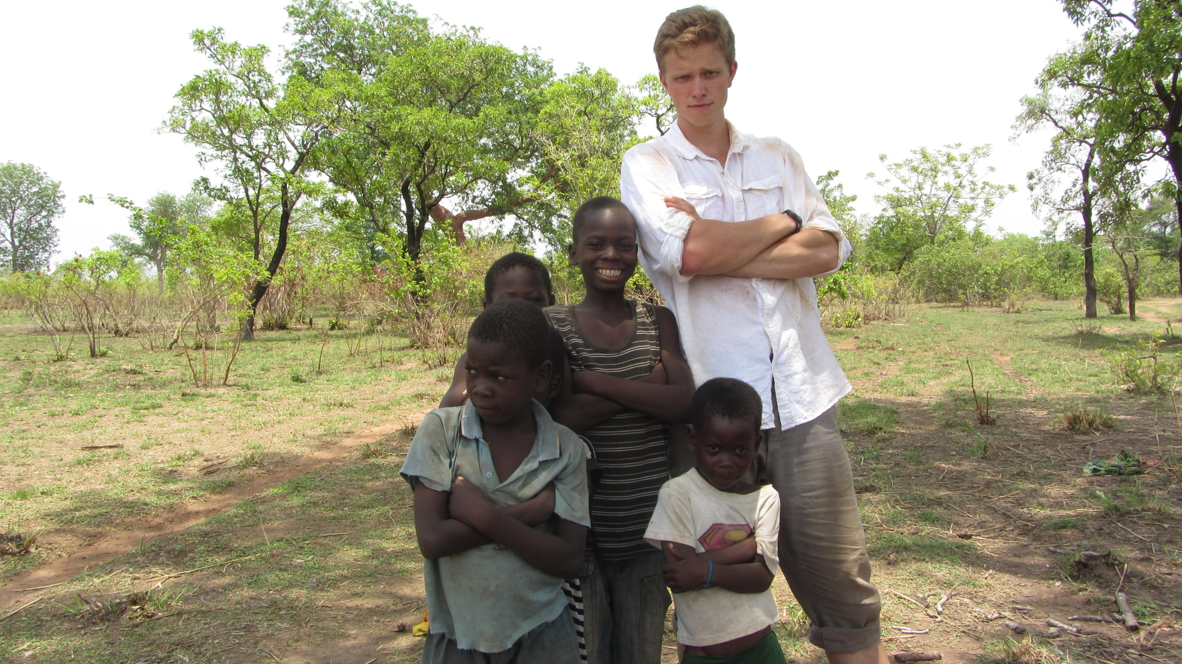 Nick with some Sakpalua kids!