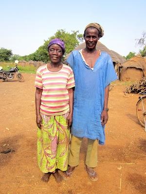 Zenabu and her husband in Buhijaa