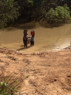 The river in Tunga - the village's only source of drinking water.