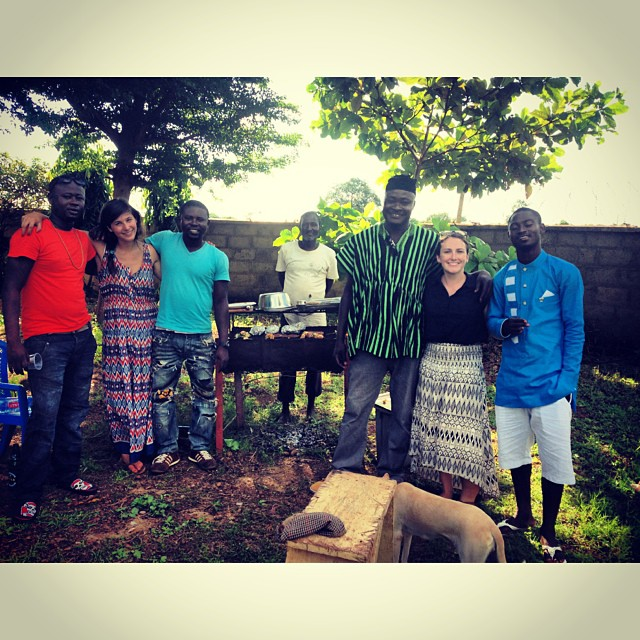 Celebrating EID at the CWS Office! (L to R: TK, Abby, Amin, Yakabu, Shak, Brianan and Wahab)