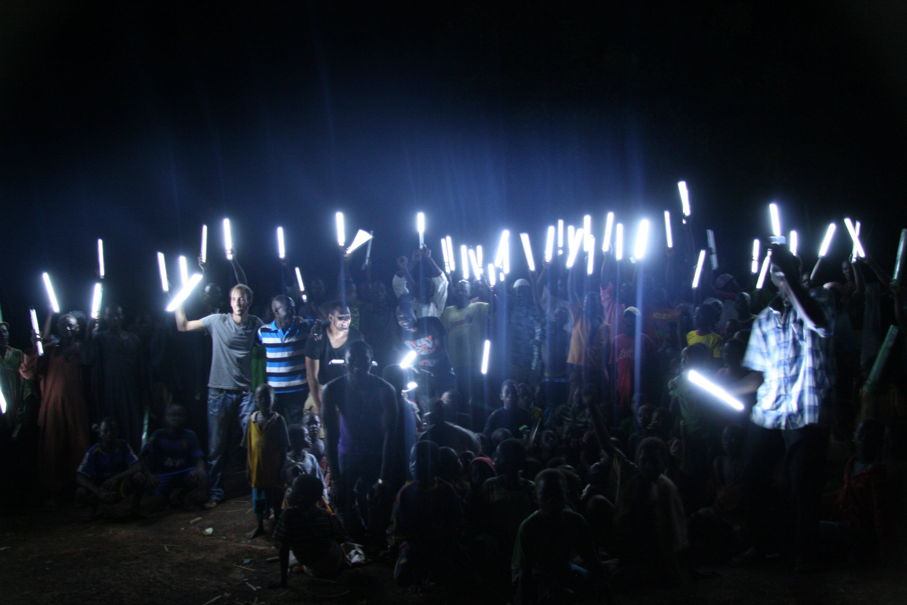 Group photo of the village with their new rechargeable lanterns!