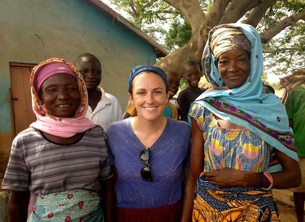 Azara, me and Mariama, the water business women in Kpachiyili. 2 years after opening day!