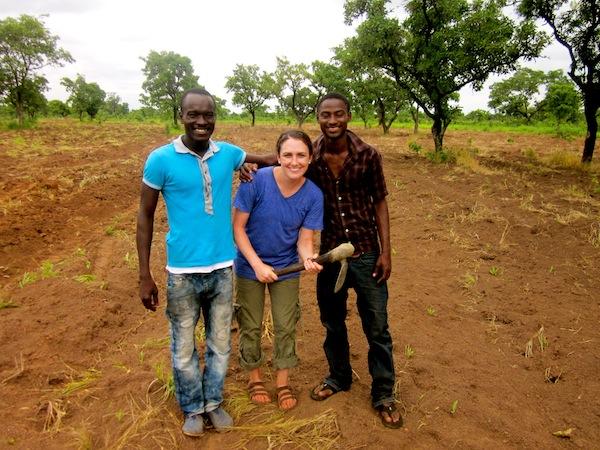On Peter's farm in Libi!