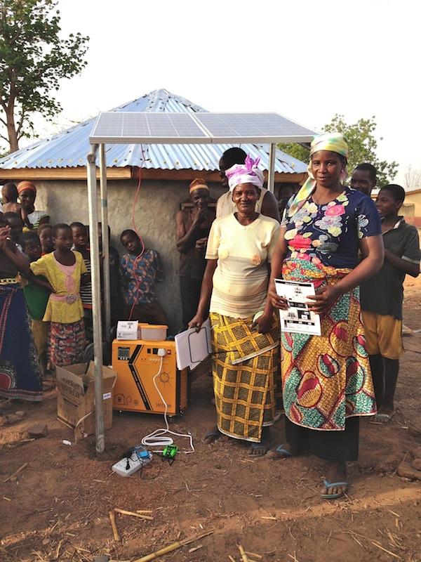 Ayi and Fuseina with their solar business in Kurugu Vohoyili!