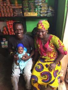 Saha Global's Salaga Regional Director, Peter, with his wife Rahama and their new baby Basimatu!