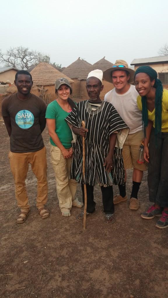 Amin, Sarah, a Djelo elder, Jake & Marsha