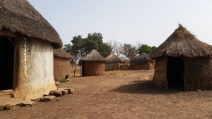 The community of Moya - the chief's palace is on the left!