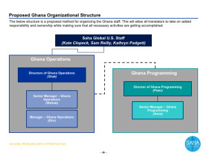 The new Org chart for the Ghana team