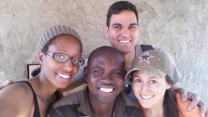 Hanging in Ghana with Saha Senior Manager, Amin, and two of the 2015 Winter Field Reps, Marsha and Sarah.