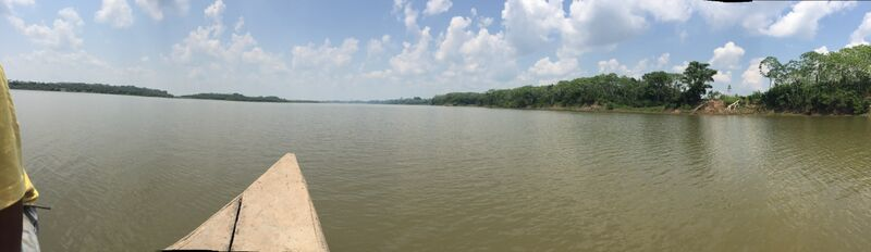 The vast Amazon River! And this was the dry season, so the water level is at its lowest.