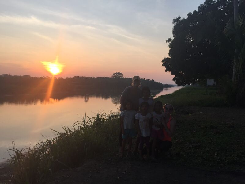 Kate & I stayed the night in this community and watched the sunset with some of the community kiddos.