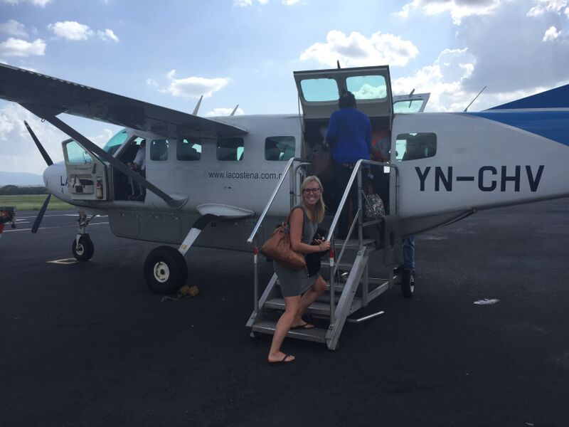 Off on this small plane for a short 45 minute ride from Managua to Puerto Cabezas, located on the East Coast of the country!