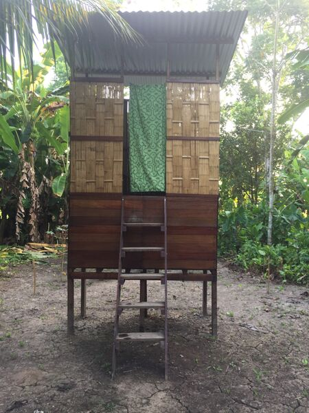 An eco-sanitation project in the commmunity. There was one for each household.