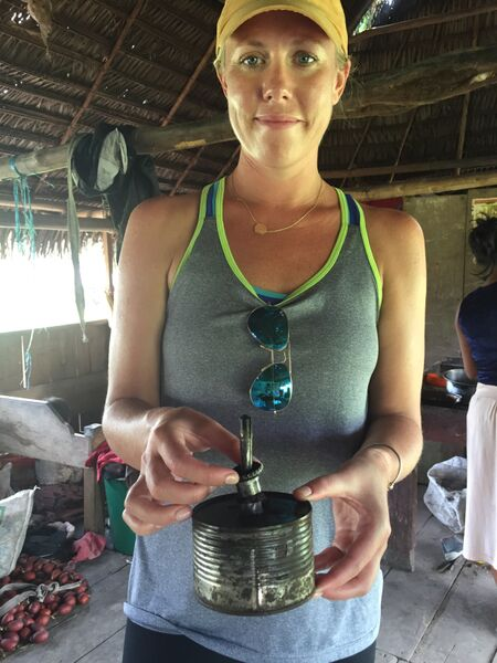 In many communities they use these kerosene lanterns as their source of light at night.