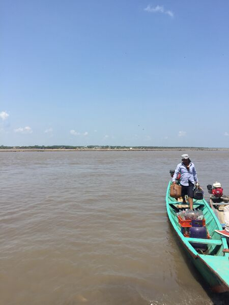 Our boat back down the river, a bit smaller and with no shade and no hammock. It was hot journey back down to Pucallpa!