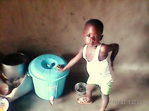 Little Muftawu from Original Kabache loves drinking clean water! Children under the age of 5 are the most vulnerable to waterbourne disease. We are so glad that this little guy will never have to live without access to safe drinking water.