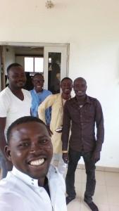 The Saha Ghana team after their weekly team meeting!