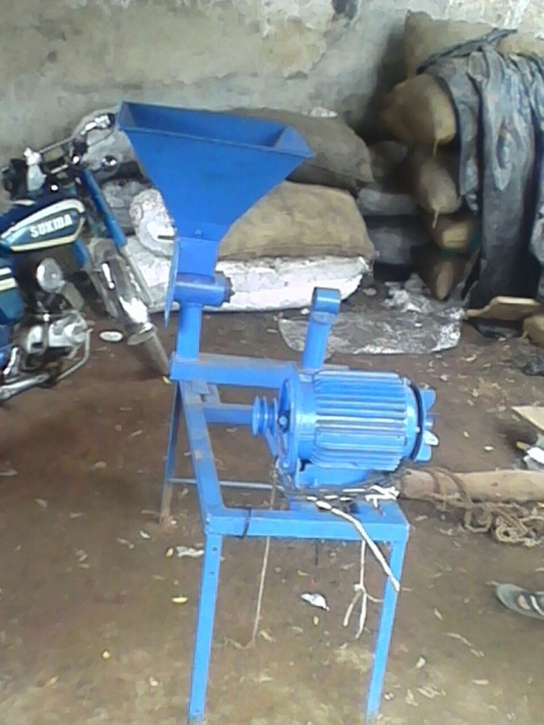 The grinding mill that the entrepreneurs are planning to purchase in Yapalsi.