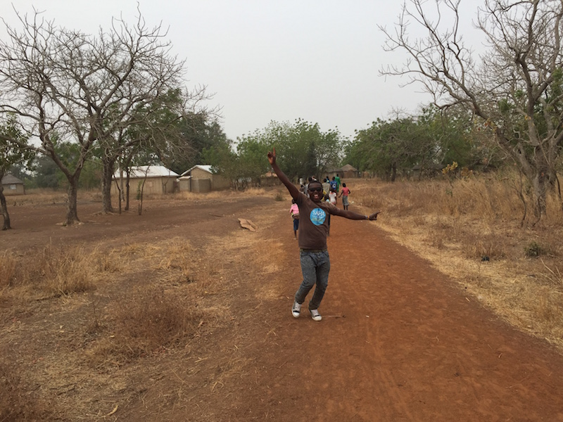 Translator Amin gets excited about the work in Kpalguni - the newest Saha community!