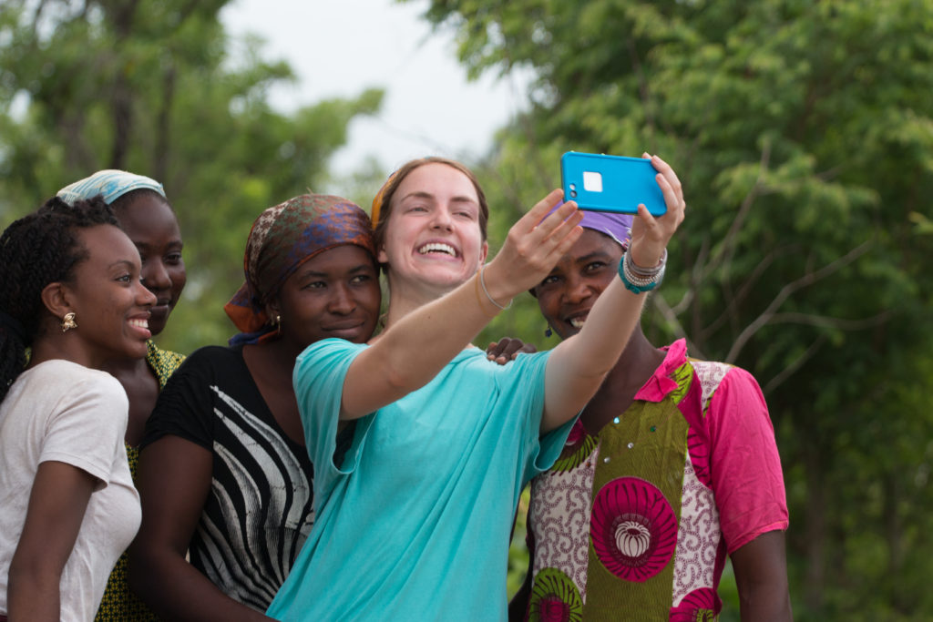 Lauren snaps a selfie with Tantuani's new entrepreneurs!