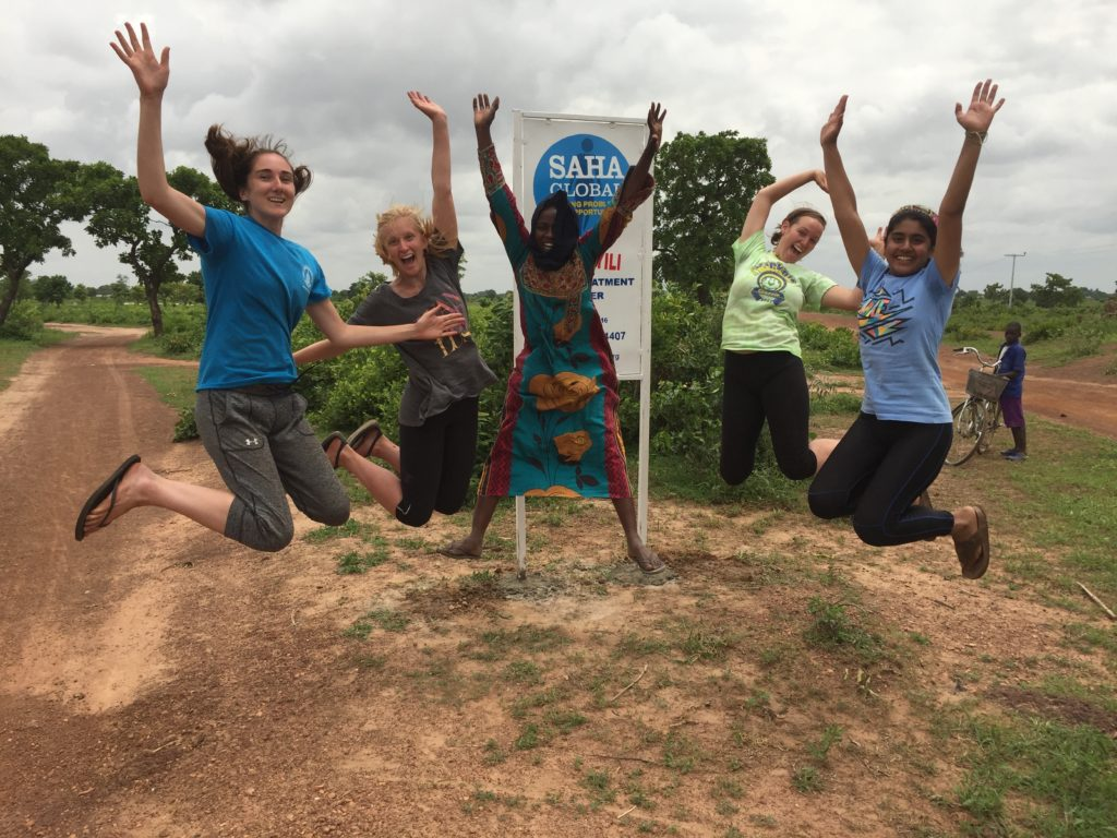 Kathryn, Annalise, Simply, Molly and Aliyah in the community of Dawunyili