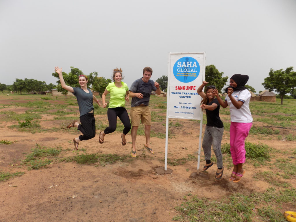 Christina, Bethany, Sam, Julia and Sumaya in Sankunpe
