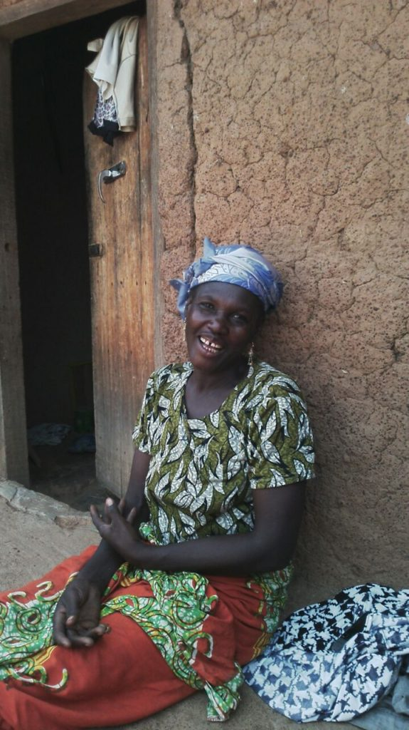 Hawabu of Dundo is glad that they now have clean water - Eric monitors in April