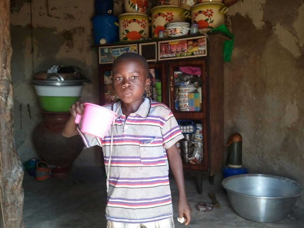 """""""Drinking clean water bought from the water treatment center"""" - Wahab monitors in April"""