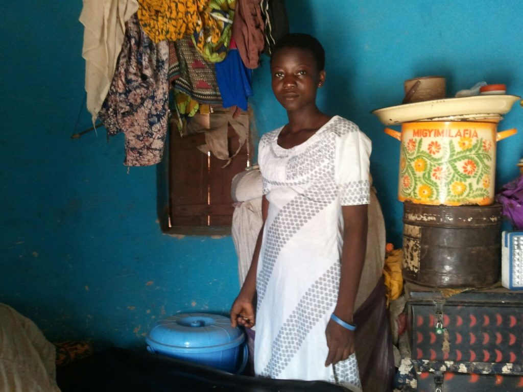 """Household monitoring, though this house was my favorite household on this day. I found out that they have six safe storage containers in the house"" - Wahab monitors at Galikpegu"